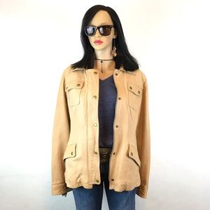 Jackets & Blazers - Vintage leather jacket coat BR tan Size XL